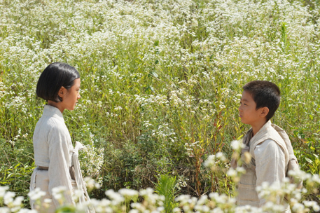 "A scene from the movie 'Beyond That Mountain,"" which tells the story of Cardinal Stephen Kim Sou-hwan's childhood. [LITTLE BIG PICTURES]"