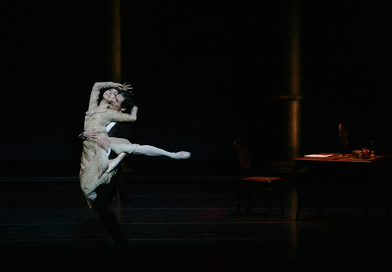 "Universal Ballet Company presents 'Onegin,"" a realistic love story between a man and a woman. [UNIVERSAL BALLET COMPANY]"
