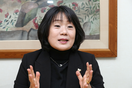 Yoon Mee-hyang, a rights activist and a lawmaker-elect of the Citizen Party. [YONHAP]