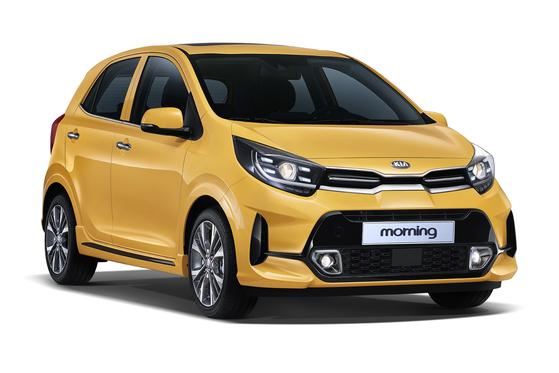 The upgraded Morning minicar from Kia Motors is priced between 11.95 million won ($9,800) and 14.8 million won. [KIA MOTORS]