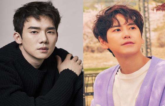 Actor Yoo Yeon-seok and singer Kyuhyun from boy group Super Junior [STARSHIP ENTERTAINMENT, SM ENTERTAINMENT]
