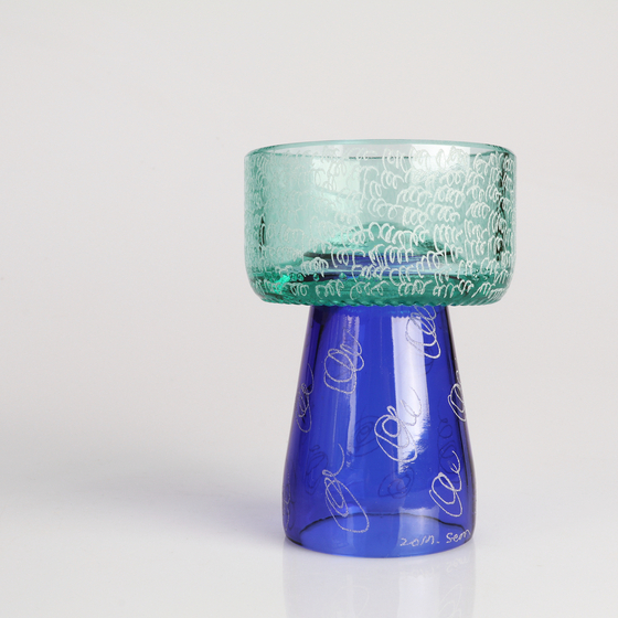 Upcycled class cup. [PARK SEON-MIN]