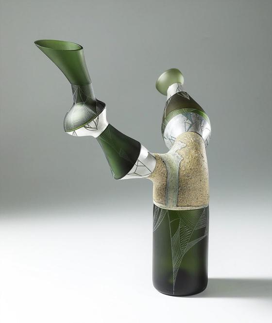 Upcycled vase made with glass waste.  [PARK SEON-MIN]