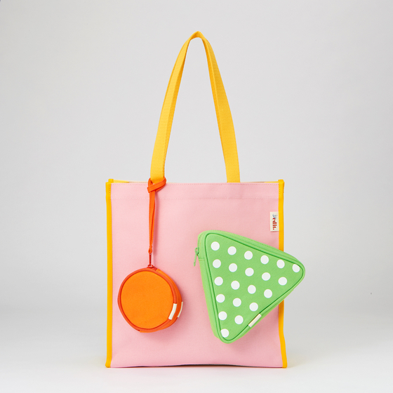 Above and below: Two bags from By Edit's recent salad edition The company makes colorful and bright canvas bags. [BY EDIT]
