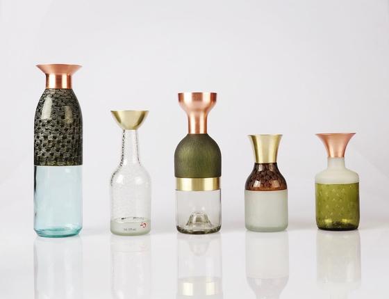 Upcycled glassware. [PARK SEON-MIN]