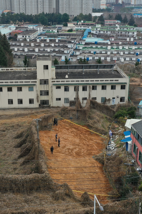 The plot of land that used to hold former Gwangju prison. This photo was taken in 2019. [YONHAP]