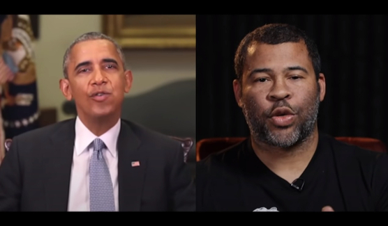 President Barack Obama's face merged onto Jordan Peele's face warned of the dangers of deepfake technology. [SCREEN CAPTURE]