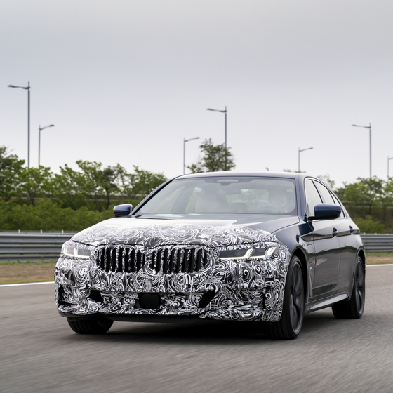 BMW will world premiere the new 5 Series, pictured above, and the 6 Series in Korea on May 27. [BMW KOREA]