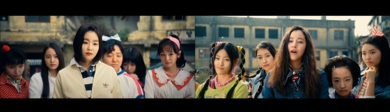 Deepfake videos by Hallyubyte feature girl groups Red Velvet, left, and Twice, right. [SCREEN CAPTURE]