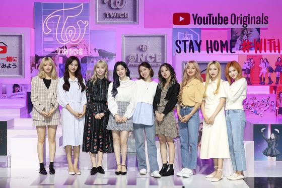 Girl group Twice. [JYP ENTERTAINMENT]