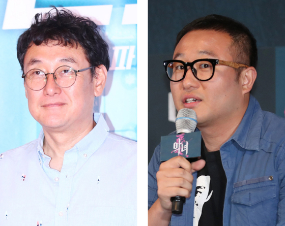 Director Jang Joon-hwan, left, and director Jung Byung-gil are reported to be making their directorial debut in Hollywood soon. [ILGAN SPORTS]