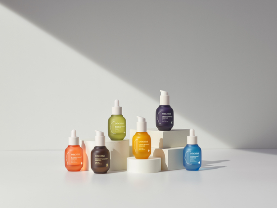 Onoma's flagship product - a skin serum Onoma essence - is displayed. The serums are priced between 42,000 won to 52,000 won. [SHINSEGAE DEPARTMENT STORE]