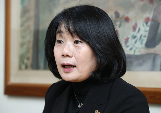 Yoon Mee-hyang, a lawmaker-elect of the ruling Democratic Party and former head of the Korean Council. [YONHAP]