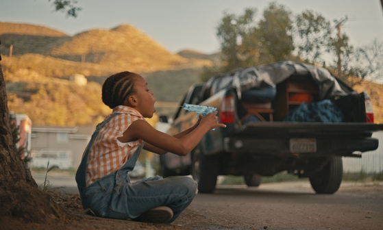 "A scene from the short film ""Furthest From."" Actor Amanda Christine plays 8-year-old Jessie who has to say goodbye to everything that she knows while living in the trailer park. [KYUNG SOK KIM]"