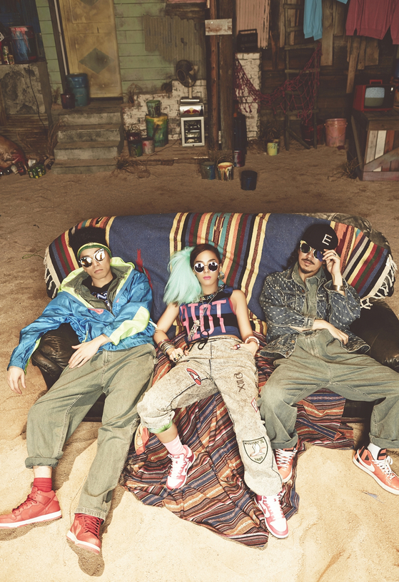 Musicians of Feel Ghood Music, from left, Bizzy, Yoon Mi-rae and Tiger JK. [FEEL GHOOD MUSIC]
