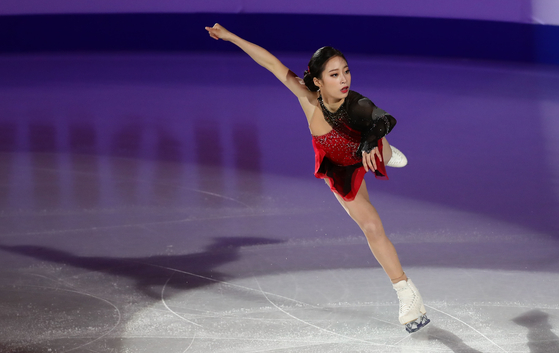 You Young performs during the ISU Four Continents Championship's gala show at Mokdong Ice Rink on Feb. 9, 2020. [YONHAP