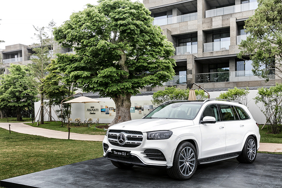 Mercedes-Benz's new GLS unveiled at a launch event in Gapyeong, Gyeonggi, on Monday. [MERCEDES-BENZ KOREA]