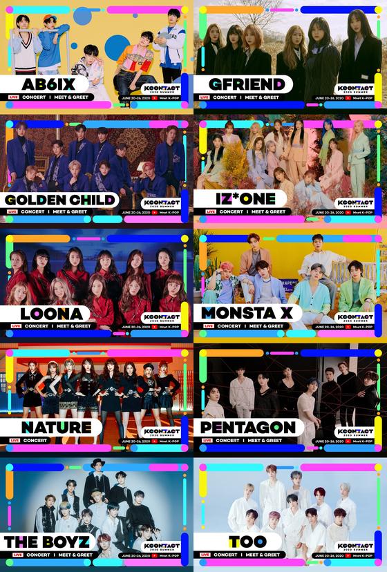 "CJ ENM's ""KCON:TACT 2020 Summer"" first lineup [CJ ENM]"