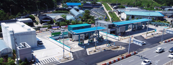 GS Caltex's charging station for combustibles and ecofriendly vehicles in Gangdong, eastern Seoul. [GS CALTEX]