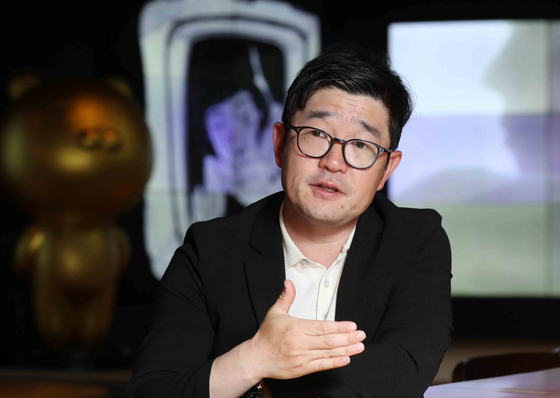 KakaoPage CEO Lee Jin-soo during the interview on May 11 at the company's headquarters in Pangyo Techno Valley, Gyeonggi. [KIM SANG-SUN]