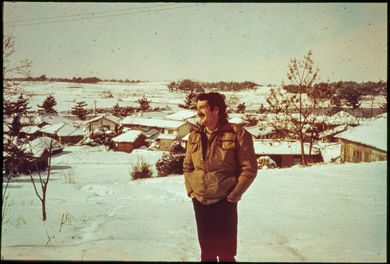 Paul Courtright in Hohyewon, a town in Naju, South Jeolla, where he served as a Peace Corps volunteer. The photo was taken in January 1980. [PAUL COURTRIGHT]