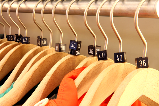A clothing rack in a store in Seoul. [JOONGANG ILBO]
