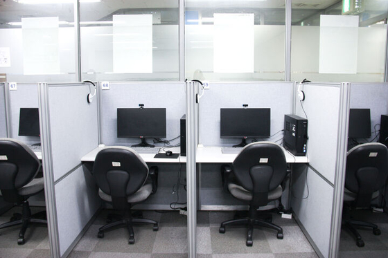 A typical classroom for TOEIC Speaking tests. [TOEICSTORY]