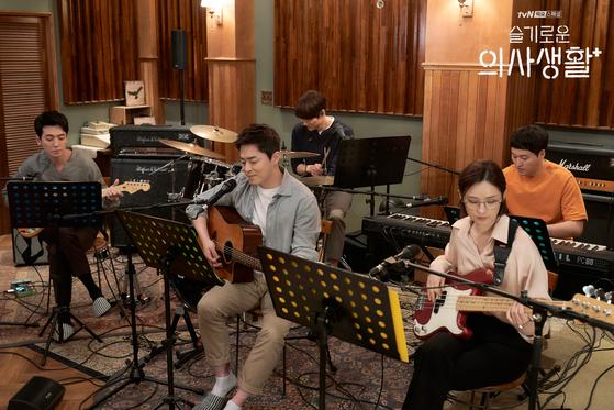 "A scene from tvN drama series ""Hospital Playlist."" [TVN]"