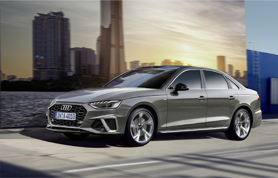Audi Korea launched the face-lifted version of the A4 compact sedan on Wednesday. [AUDI KOREA]