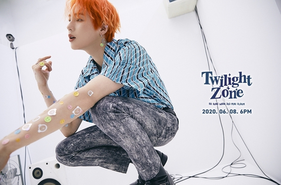 """A photo teaser for singer Ha Sung-woon's upcoming EP """"Twilight Zone."""" [STAR CREW ENTERTAINMENT]"""