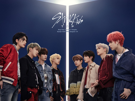 "Stray Kids' first Japanese single ""TOP"" topped Japan's Oricon Chart on June 2. [JYP ENTERTAINMENT]"