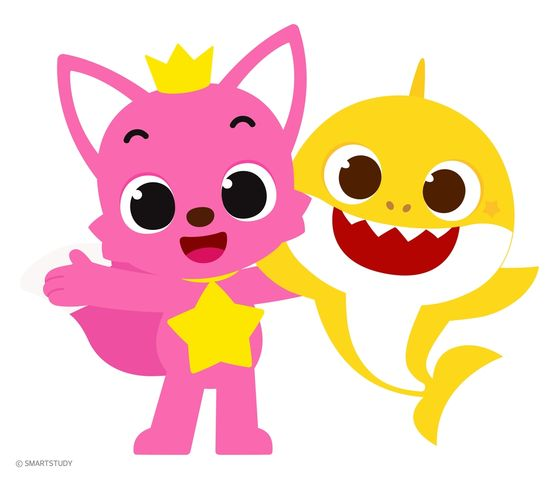 The two animated characters of local educational start-up company SmartStudy, Pinkfong and Baby Shark, were appointed by the Seoul Metropolitan Government as honorary ambassadors for the city. [SMARTSTUDY]