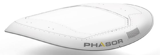 Phasor Solutions' satellite antenna. [HANWHA SYSTEMS]