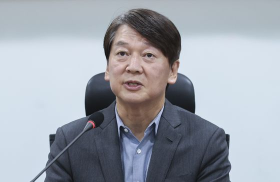 Ahn Cheol-soo, head of the minority centrist People's Party: 'The government's available welfare resources should be allocated first to those in need.""