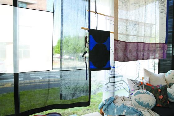 Chang's panel curtains reinterpret traditional bamboo curtains. [WOO SANG-JO]