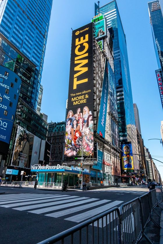 Twice banner in Times Square [SPOTIFY]