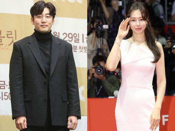 Celebrity couple Yoon Kye-sang, left, and Lee Ha-nee are no longer together, their agency Saram Entertainment confirmed on Thursday. [YONHAP, NEWS1]
