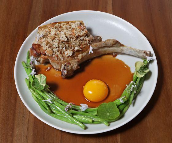 A dish of lamb at Sanok.[PARK SANG-MOON]