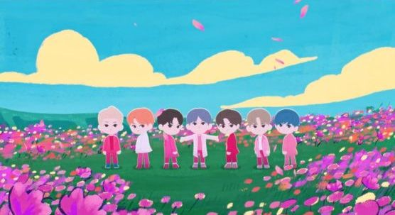 "The animated music video for ""We are Bulletproof: the Eternal"" [BIG HIT ENTERTAINMENT]"