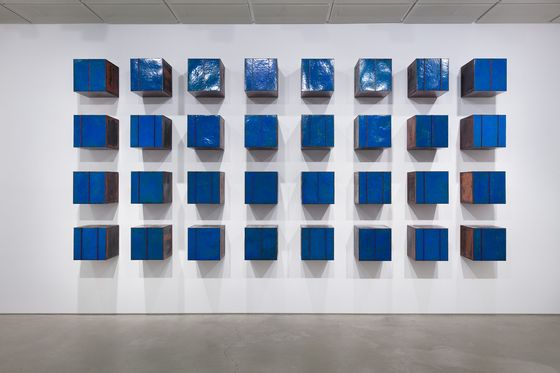 """Lee Kwang-ho's """"Composition in Blue"""" [LEEAHN GALLERY]"""