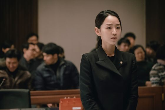 "Local film ""Innocence,"" starring actors Shin Hae-sun, Bae Jong-ok and Huh Joon-ho, took the top place for this weekend's box office. [KIDARI ENTERTAINMENT]"