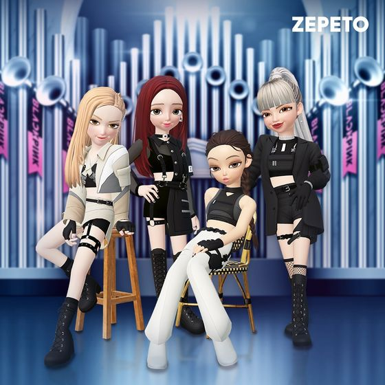 The 3-dimensional avatars of girl group Blackpink created by Zepeto [NAVER Z]