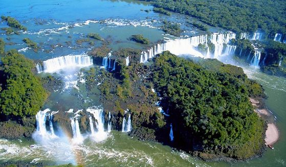 An aerial view of the Iguazu National Park. [EMBASSY OF ARGENTINA IN KOREA]
