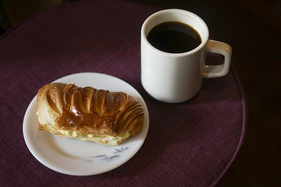 Coffee and pastry available at Fritz Coffee. [FRITZ COFFEE]