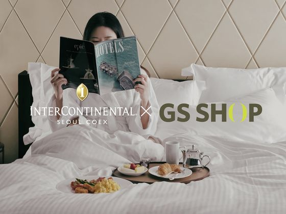 Advertising banners for discount at Four Points by Sheraton and InterContinental Seoul. [GS HOME SHOPPING, LOTTE HOME SHOPPING]