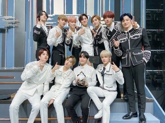 """K-pop group The Boyz took home the trophy for Mnet music competition show """"Road to Kingdom,"""" also getting the chance to compete in the next series, """"Kingdom."""" [MNET]"""