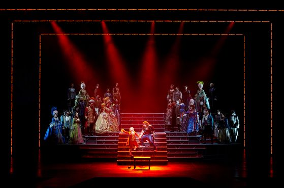 "Life of Wolfgang Amadeus Mozart unfolds on the stage as musical 'Mozart!"" The musical returns to the home soil nearly four years after it was last performed. The still image was taken in 2016. [EMK MUSICAL COMPANY]"