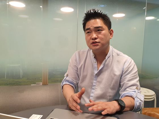 Park Hyun, CEO of We Mobility, sat down with the JoongAng Ilbo for an interview on June 18. [PARK MIN-JE]