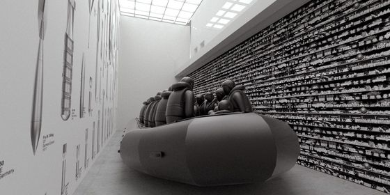"Ai Weiwei's ""Law of the Journey."" [MMCA]"
