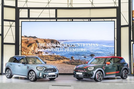 MINI held the world premiere for the face-lifted Countryman SUV in Korea on Wednesday. [BMW KOREA]